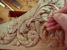 ORNAMENTALI intagliatore Patrick Damiaens: 17 ° secolo Stile Intaglio del legno | disegno foglia d'acanto intagliate in legno di noce | Nord tedesco barocco | Barocco Cabinet da DANZIG