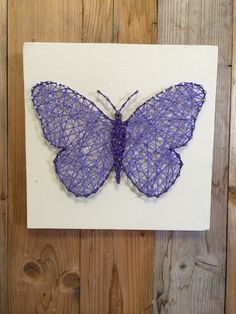 This cute purple butterfly string art is a perfect addition to your little girls room! String art measures 8 x 8. String art comes ready to hang. Each item is made to order. Please allow 2-3 weeks for completion and shipping of item. Will ship USPS along with a confirmation number.