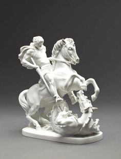 """Design: Ferdinand Opitz, """"St.George""""1949, Porzellan Manufaktur Augarten Wien"""
