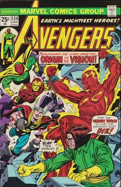 Check out this cool title in our #etsy shop: Avengers #134 (1st Series 1963) April 1975 Marvel Comics Grade F/VF etsy.me/2HPz0hV #booksandzines #comic #marvelcomics #comicbooks #avengers #theavengers #theavengerscomics #theavengerscomic #vintagemarvelc