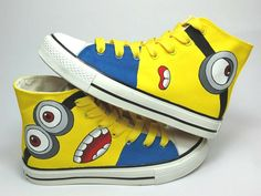 Despicable+Me+2+Minion+Custom+Hand+Painted+HiTop+by+Buysogoods,+$54.99