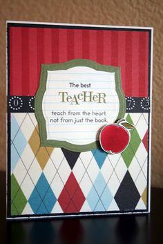 Teacher card - argyle with PTI stamps