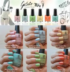 Gee Whiskers! Jessica Gelato Nail polish range