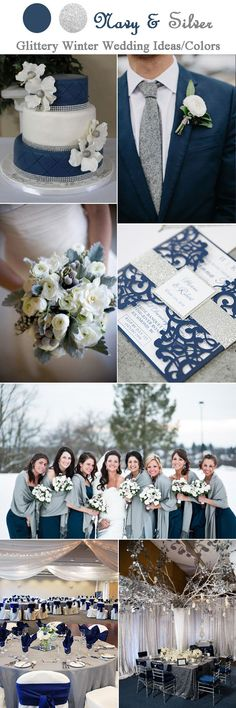Navy blue and silver grey wedding color inspiration gray wedding colors, navy blue wedding theme Navy Blue Wedding Theme, Gray Wedding Colors, Winter Wedding Colors, Wedding Color Schemes, Winter Theme, Silver Wedding Invitations, Wedding Inspiration, Color Inspiration, Wedding Ideas