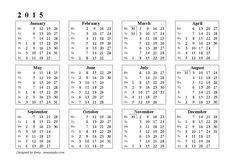free 2014-2015 mini calendar - Google Search