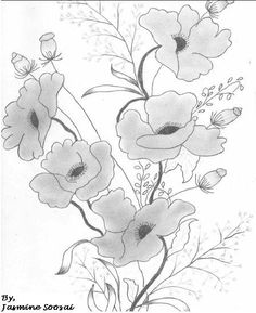 flower pencil drawings | Flower Sketches In Pencil Pencil sketches by