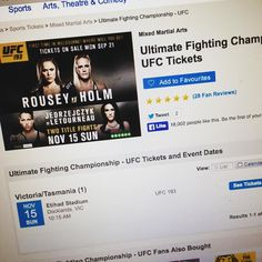 Booked our tickets and flights for UFC 193 Melbourne awww yeah :)