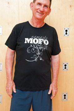 Mens namaste MOFO tshirt by Enlightenuptees on Etsy, $25.00