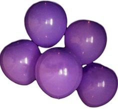 "Custom, Fun & Cool {Big Large Size 12"" Inch} 10 Pack of Helium & Air Inflatable Latex Rubber Balloons w/ 48 Hour LED Light Up Design [Light Purple Color] mySimple Products"