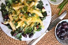 Swiss Chard Lemon Pasta -- simple, fresh, and delicious. Use quinoa or sprouted grain pasta for Phase 3. To make this a one-dish meal, add your favorite protein -- leftover chicken, cannellini beans, etc.