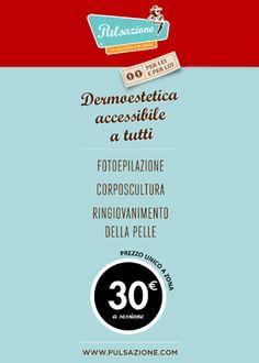 Dermoestetica accessibile a tutti.  Da Parrucchieri Pazzi fotoepilazione, corposcultura, ringiovanimento della pelle:    prezzo unico a zona 30 Euro a sessione.  Vieni a trovarci.