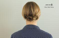 Hoje n blog tem tutorial de penteado para cabelo médio.