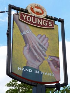 Hand-in-Hand, Wimbledon Pub Signs, Wimbledon, Ireland, Broadway Shows, London, History, Frame, Decor, Picture Frame