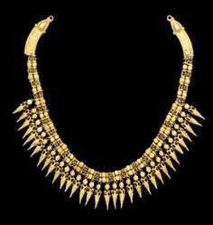 A GREEK GOLD STRAP NECKLACE