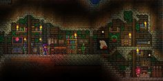 Let's see where the folks of r/Terraria end their day.** As always if you'd like to skip this week and get a head start. Terraria House Design, Terraria House Ideas, Terraria Tips, Underground Living, Cube Games, Building Furniture, Biomes, Creature Design, Pixel Art