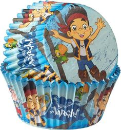Check out Jake and the Neverland Pirates Cupcake Baking Cups - Party Ideas & Supplies from Birthday In A Box