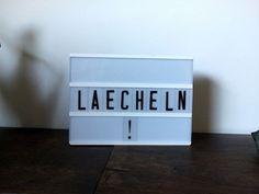 """Lichtbox Spruch: """"Lächeln!"""""""