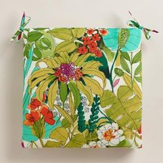 One of my favorite discoveries at WorldMarket.com: Fiji Foliage Outdoor Chair Cushion