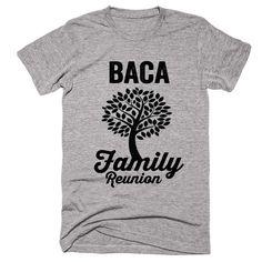 BACA Family Name Reunion Gathering Surname T-Shirt