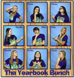 E black and blue dress yearbook