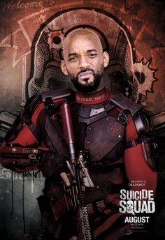 #Suicide #Squad #Fan #Art. (Suicide Squad Movie Poster of: Will Smith as Deadshot!) By: Warner Brothers. ÅWESOMENESS!!!™ ÅÅÅ+