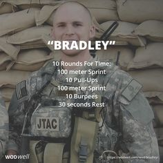 """""""Bradley"""" WOD - 10 Rounds For TIme: 100 meter Sprint"""