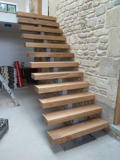 Oak stairs ready for handrails etc. www.kpitmanjoinery.co.uk