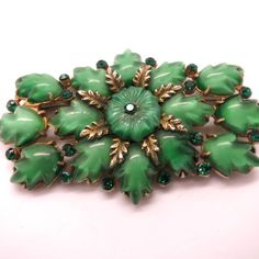 Fabulous Vintage Art Deco Czech Green Glass by Thecherishedweb