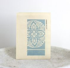Antique Blue Pattern Design Japanese Woodblock by TheBlueTwig