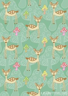 Never done a repeat pattern before so I thought I' The deer is part of an animal alphabet I'm doing at the moment, so i will hopefully upload some pics soon. Deer Pattern, Vector Pattern, Pattern Art, Fabric Wallpaper, Pattern Wallpaper, Cute Wallpapers, Wallpaper Backgrounds, Backgrounds Free, Textures Patterns