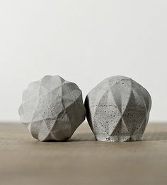 Hazel Geometric Concrete Knobs, 2-Pack | Replace boring ol' drawer or cabinet hardware with these concr... | Cabinet Knobs & Handles