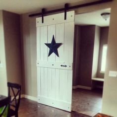 Sliding barn door - DIY....LOVE THIS ONE FOR SURE!!!