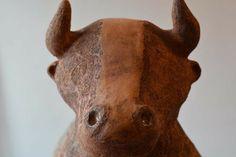 Ceramic Bull  #pottery #ceramic #bull #ox #animal #passion #sculpture #statue #garden #animal