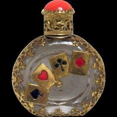 Checa Mini Perfume botella Jaco tarjeta juego Poker