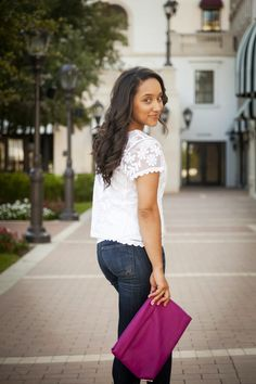 Diary of a Southern Shopper-Jean Living: @expresslife top/jeans @shoedazzle heels