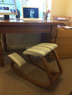 I've just acquired this kneeling chair. Can't wait to find out the benefits! http://www.workfromhomewisdom.com/2015/12/21/the-benefits-of-a-kneeling-chair/