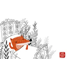 sleeping+fox+by+dinara+mirtalipova.jpg (640×568)