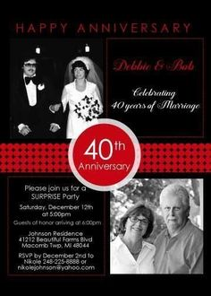 Elegant anniversary invitations are a must when celebrating such a milestone event., your party invites will be unique. 50th Anniversary Invitations, Wedding Anniversary Invitations, 40th Wedding Anniversary, Anniversary Parties, Happy Anniversary, Photo Invitations, Current Picture, 2 Photos, Party Ideas