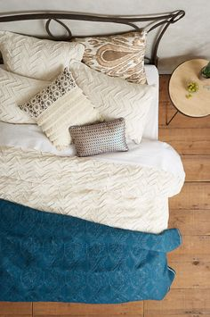 Textured Chevron Duvet | Anthropologie