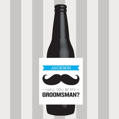 Will you be my Groomsman Beer Labels, Best Man, Groomsman, Groomsman Label, Wedding Label, Custom, Label, Sticker, Favor, Groomsman Gift, Weddings, will you be my, beer label, groomsmen gift, wedding beer label, best man gift, Label, Bridal Party by DesignsByTenisha