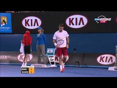 HOT SHOT Stanislas Wawrinka Vs Tomas Berdych Australian Open 2014  SF HD