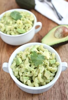 Stovetop Avocado Mac and Cheese Recipe on twopeasandtheirpod.com Our favorite mac and cheese!  The avocado makes it extra creamy and delicious!