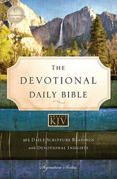 The Devotional Daily Bible is a balanced blend of scripture from the Old Testament, Psalms, Proverbs, and the New Testament, as well as a devotional thought to conclude each day. $29.99