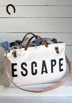ESCAPE Canvas Utility Bag by Forestbound with Shoulder Strap