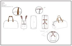 technical drawing of duffle bag Fashion Design Template, Bag Illustration, Tech Pack, Picnic Bag, John Varvatos, Athleisure, Canvas, Bags, Accessories