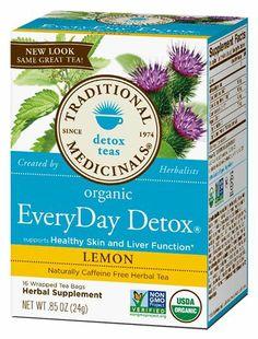 Traditional Medicinals EveryDay Detox Tea.
