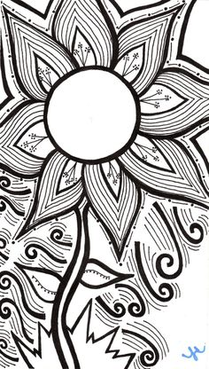 My drawing of a flower. Etsy...Dot on the line.
