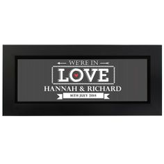 Personalised In Love with Name Frame  from www.personalisedweddinggifts.co.uk :: ONLY £19.99