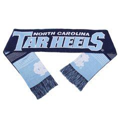 North Carolina Tar Heels NCAA College Reversible Split Logo Scarf