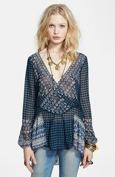 Free People 'Into the Mystic' Peasant Top available at #Nordstrom